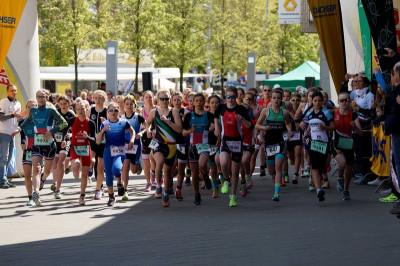 Auch 2018 werden die DTU Deutschen Meisterschaften im Duathlon in Alsdorf ausgetragen, erstmals mit internationaler Beteiligung in den Jugendrennen. Foto: Harald Kohlhaas/www.ingokutsche.de