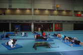 Nachwuchskader beim Turnen - Ausprobieren anderer Trainingsmethoden
