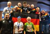 Das deutsche Wintertriathlon-Team bei der EM in Rumänien. Foto: Neuendorff