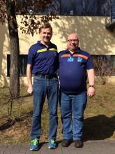 BKR-Obmann H. Wackerhage und Joachim Scheide