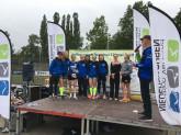 ASC Tria-Ladies Göttingen (1.) Triathlöwinnen Bremen (3.) nicht im Bild: Tri-Team Osnabrück MÄDELS (2.)