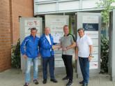 Foto v.l.: Heino Grewe-Ibert, Winfried Barkschat, Sven Goslar und Dr. Lutz Tantow