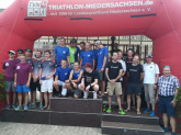 Die H-Siegerteams der TLL mit v.l.: Tri-Speedys Peine (2.), ASC Göttingen (1.) und Hannover 96 III (3.)