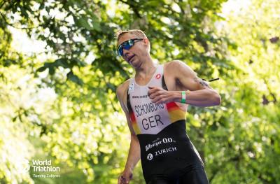 Jonas Schomburg in Leeds | Foto: Quelle World Triathlon/Tommy Zaferes