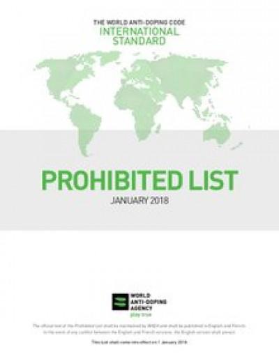 WADA veröffentlicht Verbotsliste für 2018