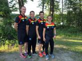 Foto: DTU (Bundestrainer Paratriathlon Tom Kosmehl, Martin Schulz, Stefan Lösler, Maike Hausberger (v.l.n.r.)